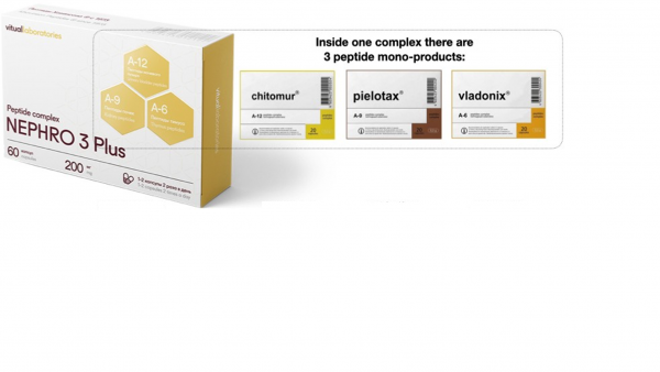 Nephro 3 Plus Peptide Complex - improve the functioning of the urinary system and normalize overall health